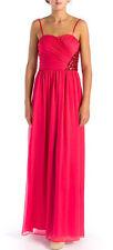AQUA ~ Pink Chiffon Sequins Cutout Back Formal Gown 0 NEW $268