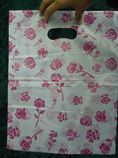 100 ROSA ROSA in plastica regalo sacchetto all'ingrosso Joblot Vendita al dettaglio 31 CM x 40cm