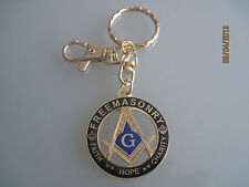 New Masonic Master Mason Cut out Keychain gold black