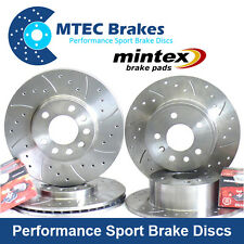 Mazda 6 2.0 2.3 02-07 MTEC Drilled Grooved Brake Discs Front Rear & Mintex Pads