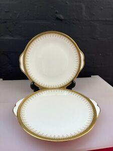 "2 x Royal Albert Paragon Athena Eared Cake Bread Plates 10.5"" 3 Sets Available"