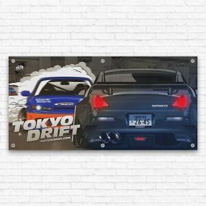 Tokyo Drift '30 Second Lesson' JDM Workshop Garage Banner Wall Poster