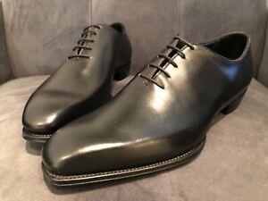 Men's - George Cleverley - Kingsman Black Whole Cut Oxford Shoes - UK 9.5