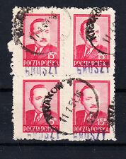 Polen Briefmarken 1950 Groszy Aufdruck T3A Präsident Mi.Nr. 626 4x geprüft