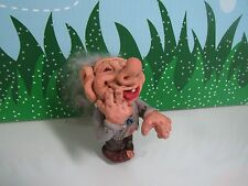"RARE VINTAGE LAUGHING MAN - 3.5"" Troll Doll - Made in Norway or Denmark"