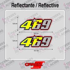 VALENTINO ROSSI NICKY HAYDEN 469  PEGATINA  MOTO CASCO MOTO GP STICKERS ADESIVI