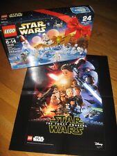 LEGO STAR WARS 2016 ADVENT CALENDAR # 75146  282 pcs BONUS Force Awakens POSTER