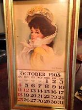 Antique Victorian Pin Up Girl Calendar October