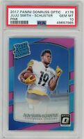 2017 Panini Donruss Optic #176 Juju Smith-Schuster Pink Prizm RC PSA 10 GEM MT