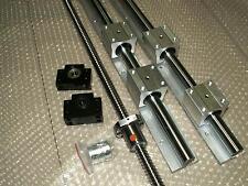 SBR16-800mm 2 linear rail+ballscrew RM1605-800mm+1 set BK/BF12 end bearing CNC