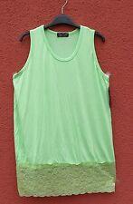 NEU SARAH SANTOS Top Basic Shirt mit Spitze Gr. XL 48 50 Lagenlook ***