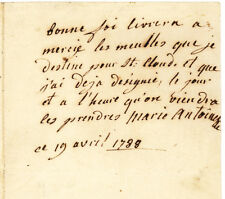 Extremely Rare Marie Antoinette ALS as Queen of France Lot 82