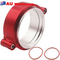 """1Pcs HD Clamp V-band Flange Assembly Clamp Fit 2.5"""" 63mm Turbo Dump Pipe Red"""