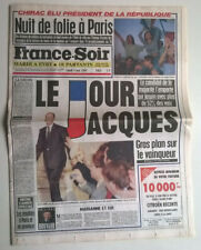 FRANCE-SOIR du 08/05/1995 - JACQUES CHIRAC PRESIDENT