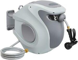 """DEWENWILS Garden Hose Reel 1/2"""" x100 FT Retractable Auto Rewind Water Hose Reel"""