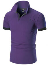 Men's Slim Fit POLO Shirts Short Sleeve Casual Golf T-Shirt Jersey Tops