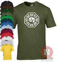 Dharma Initiative swan logo t-shirt Lost tv series retro coolness