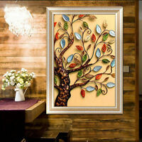 DIY 5D Diamond mosaic Rich Tree Painting Cross Stitch Kits Embroidery Home  FO