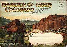 Vintage Souvenir Folder Photo Pack Folder - GARDEN OF THE GODS Colorado 1940's