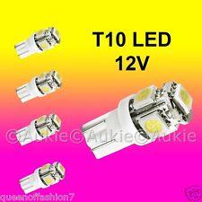 5 x T10 12V LED Interior Car Auto 5 SMD Light Bulb White Lamp Globe