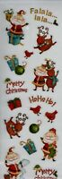Recollections CHRISTMAS Flat Glittered Stickers~VERY CUTE! Quick Ship!