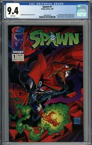 Spawn #1 CGC 9.4 NM 1st Appearance of Spawn (Al Simmons) WHITE PAGES