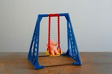 Vintage Plastic Dollhouse Furniture, Reliable Swing with Best Baby, 3/4 In Scale