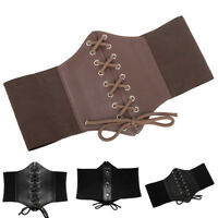 Women Fashion Stretch Elastic Wide Corset Belt Waist Cincher Waistband Plus Size