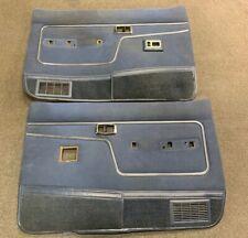 83-86 Ford Ranger & Bronco ll Power Door Panels Blue Rare! Read 1st OEM
