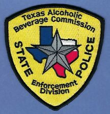 TEXAS ALCOHOLIC BEVERAGE COMMISSION STATE POLICE ENFORCEMENT DIVISION PATCH