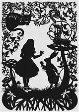 Alice in Wonderland Silhouette DIGITAL Cross-Stitch Pattern Needlepoint Chart