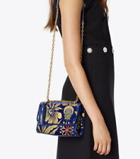 100 Authentic Tory Burch Fleming Floral Convertible Small Shoulder Bag
