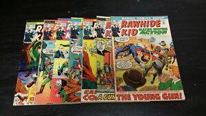 1972 MARVEL COMICS LOT OF (7) RAWHIDE KID #97-129 MIXED GRADE VINTAGE WESTERN