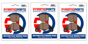 Front & Rear Brake Pads (3 Pairs) for ADLY 150 Interceptor 2005