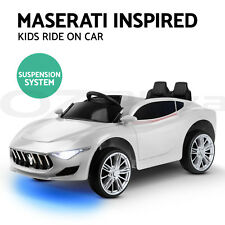 Electric Kid Ride On Car Maserati Inspired Style Battery Toy Children Remote 12V