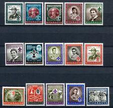 NICARAGUA 1957 Baden-Powell Pfadfinder Scouts 1125-1140 + BLock 43-44 **