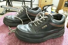 CLARKS MOCCASIN SHOES MENS / TEENS UK SIZE 7 DARK BROWN LEATHER GORETEX SHOES