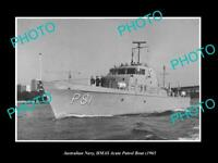 OLD 8x6 HISTORIC PHOTO OF AUSTRALIAN NAVY HMAS ACUTE PATROL BOAT c1965