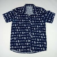 SAN DIEGO Padres All Over Print Hawaiian Shirt MLB Baseball Adult Size Medium