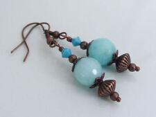Copper Drop/Dangle Stone Costume Earrings