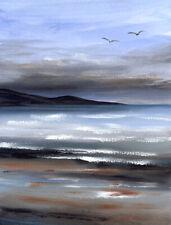 ORIGINAL WATERCOLOUR PAINTING SEASCAPE Sea, Beach, Coast, Sarah Featherstone ART