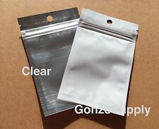 "200PC Clear Front White 3x5"" Mylar Zip Lock Bags-Merchandise Crafts Storage"