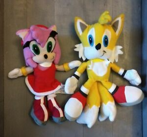 "Sonic The Hedgehog - Amy and Tails Plush 8"" Lot of 2 - Toy Network Brand"