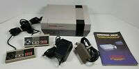 Nintendo NES Console NES-001 w/ 2 Controllers, Cords, Instruction Booklet