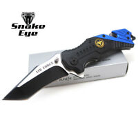 """Snake Eye tactical """" Air Force """" Rescue Style Action Assist Folding Knife 4.5"""""""
