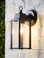 CGC Black Coach Lantern Wall Light Outdoor Glass Bevel Garden Retro Lamp Vintage
