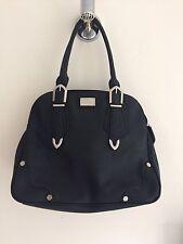 Red Herring Womens Medium Sized Black Zip Bag With Silver Detail.