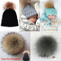 Manul Fox Fur Pompom Fur Pom Poms Ball with Press Button for Hats & Caps