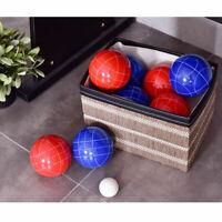 Goplus Backyard Bocce Ball Set with 8 Red & Blue Balls Pallino Outdoor Sports
