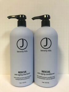 J BEVERLY HILLS RESCUE ANTI AGING SHAMPOO & CONDITIONER SET - 32oz LITER DUO